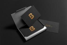 visitenkarten mit goldfolienprägung