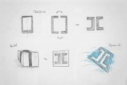 corporate design logo scribble