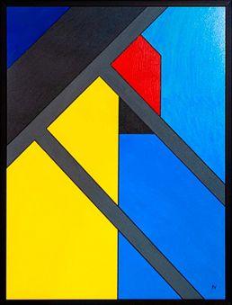 abstraktes gemälde acryl lieven