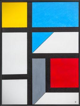abstrakte komposition acrylfarbe johannes lieven kunst