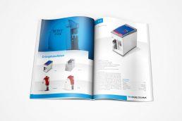 Maschinen design broschüre